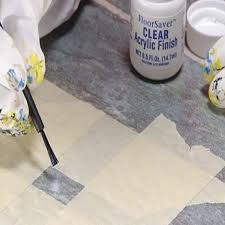brush the clear acrylic finish over the repair and allow two hours drying time before walking on the area if the surface appears rough after the bond