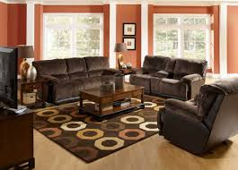 Orange And Brown Living Room Accessories Brown Sofa Decorating Living Room Ideas With Beautiful Carpet