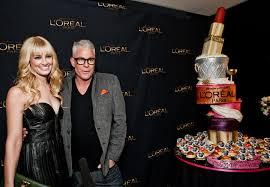 actress beth berhakeup artist billy b celebrate l oréal colour riche lipstick s