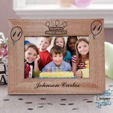 how old i am personalised wooden photo frame