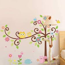 nursery 2 for 20 tree owl wall stickers art decals