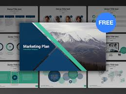 Marketing Plan Powerpoints Free Powerpoint Template Marketing Plan By Hislide Io Dribbble