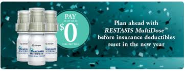 allergen also incentivizes restasis use by offering plan beneficiaries a coupon to eliminate their deductible and copayment costs