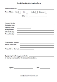 Credit Cards Authorization Form Template 39 Ready To Use