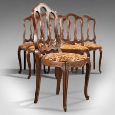 set of six antique french dining chairs country oak circa 1900