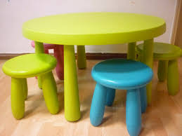 ikea mammut round table and stools preloved toys books etc