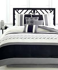 collectibles 7 piece queen comforter set black ivory and bedding striped black and ivory bedding designs striped