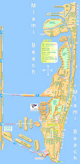 miami beach street map north and south miami beach