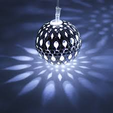Outdoor lighting balls Rechargeable Zoom Hollow Ball Led Christmas Lights Torchstar