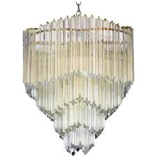 mid century modern venini for camer crystal chandelier