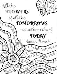 Adult Coloring Page Adult Coloring Pages Quotes Quote Never