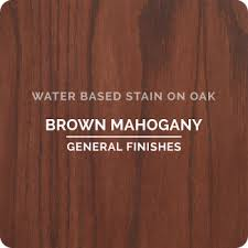 Mahogany Stain Color Chart Water Based Wood Stains General Finishes