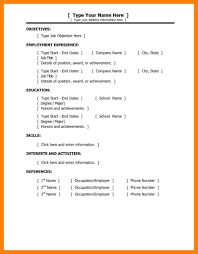 9 Basic Resume Template Word Time Table Chart