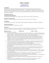 Database Developer Resume Template Custom Sql Developer Resume Samples Goalgoodwinmetalsco