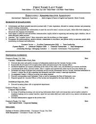 Resume Templates Administrative Assistant Consular Or Administrative Assistant Resume