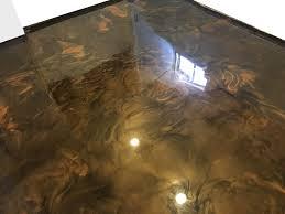 epoxy flooring basement. Reflector Metallic Epoxy Floor Flooring Basement