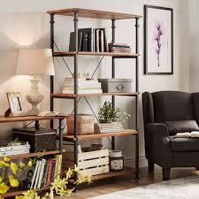 Myra Vintage Industrial Modern Rustic 40-inch Bookcase by TRIBECCA HOME by  INSPIRE Q