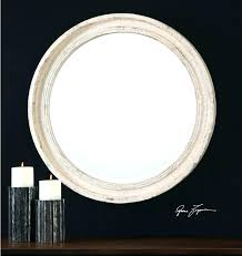 36 inch round mirror decorative wall wood barrel frame threshold target