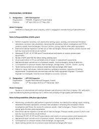 construction inspector resumes plant inspector resume ealumalai muthu cv for api 510 inspector