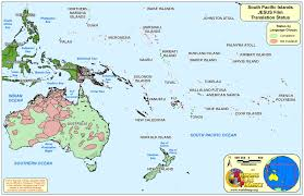 world map  south pacific islands