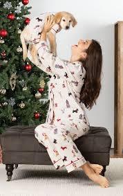 Christmas Dog Print Flannel Pajamas for Dog & Owner in Matching Pet and  Owner Pajamas | Matching Family Pajamas | PajamaGram