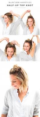 Topknot Hair Style blunt bob hairstyles halfup top knot advice from a twenty 3916 by wearticles.com
