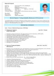 Comfortable Mechanical Engineer Resume Sample India Pictures