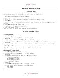 Uplighting Color Chart Advanced Setup Instructions_rentmywedding Manualzz Com