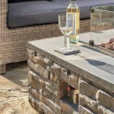 kalos stone firepit coffee table