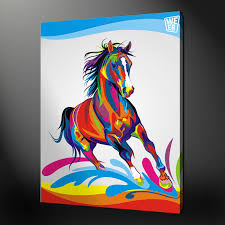 abstract horse quality canvas print picture wall art design free uk p p