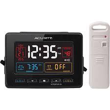 2018 atomic dual alarm clock calendar temperature display with snooze on