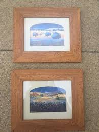 beautiful small sizes paintings with rustic wood frames