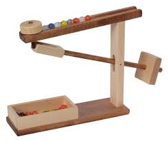 maple and walnut american made marble run toy