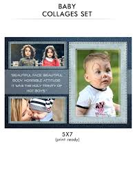 baby collage frame baby first year photo collage frame canvas baby girl picture frame