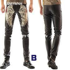 r20 male stage wears suit dj ballroom costumes singer men leather pants club punk rock