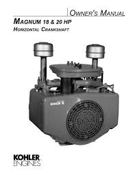 Magnum 18 20 Hp Owners Manual Kohler Engines