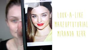 tutorial my miranda kerr look a like makeup tinytwisst