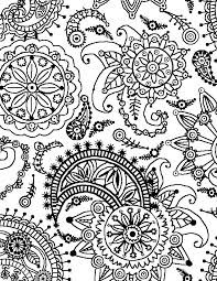 Small Picture Coloring Page World Paisley Flower Pattern Portrait Art