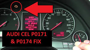 Audi Malfunction Light Audi B6 A4 Check Engine Light P0171 P0174 Solution Fix 2001 2006