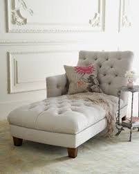 Bedroom Couch chaise. in some deep color in front of the fireplace. tvwofwb