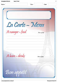 french menu template springboard stories french menu template