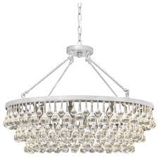 celeste 10 light glass and crystal chandelier 32in diameter brushed nickel contemporary chandeliers by chandeliercrystallights