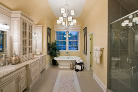 french country bathroom designs. Ample French Country Bathroom With Beige Walls And Shabby Storage Cabinets Also Freestanding Bathtub Designs B