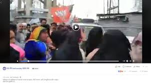 Did Cheering Crowd In Pakistans Balochistan Wave Bjp Flags Heres