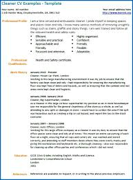 Cleaning Cv Sample Hatch Urbanskript Cleaner Sample Resume Ddgzme