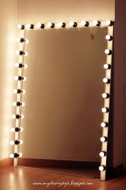 Mirror Lights Bedroom Diy Hollywood Style Mirror With Lights Craft Diy Pinterest