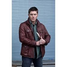 supernatural season 7 dean winchester brown leather jacket