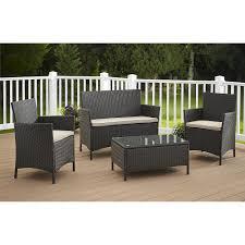cosco outdoor furniture jamaica 4 piece resin wicker patio furniture conversation set com