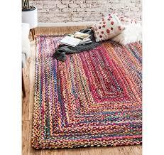 6 x 9 braided chindi rug