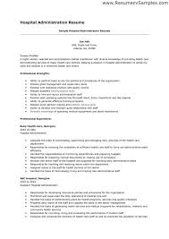 Resume For Hospital Seloyogawithjoco Cool Resume For Hospital Job